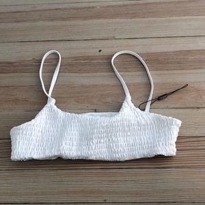 NWOT White Bikini Top